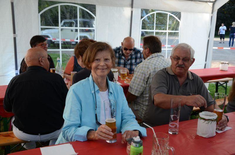 40-Jahr-Jubiläums-Feier SKG Stockstadt Tennis - Heidi Büchsenschütz und Manfred von Ameln
