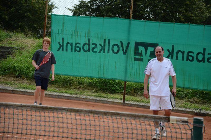 40-Jahr-Jubiläums-Feier SKG Stockstadt Tennis - Doppelpertner Falk Breunig und Andreas Maus