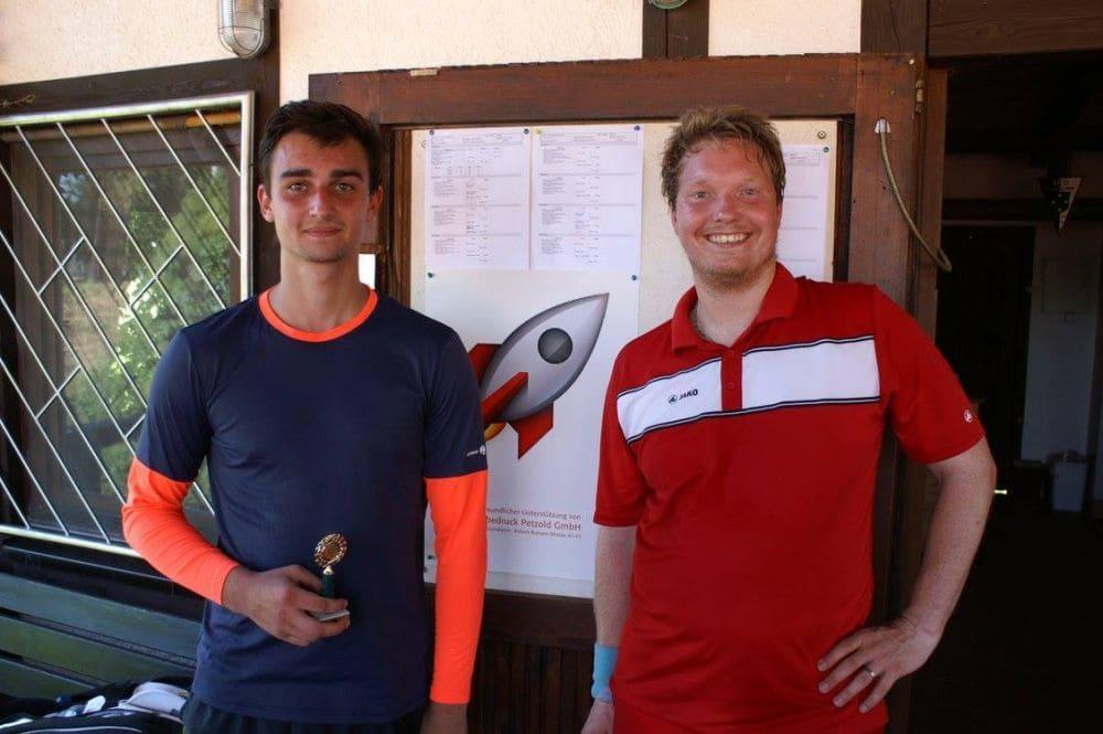 Herren Gruppe 1 - Sieger Daniel Stahl und Zweitplatzierter Christian Helmchen-Aldick