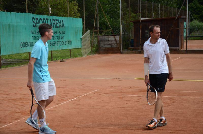 40-Jahr-Jubiläums-Feier SKG Stockstadt Tennis - Doppelpartner Jannik Siegler und Ludek Vildman