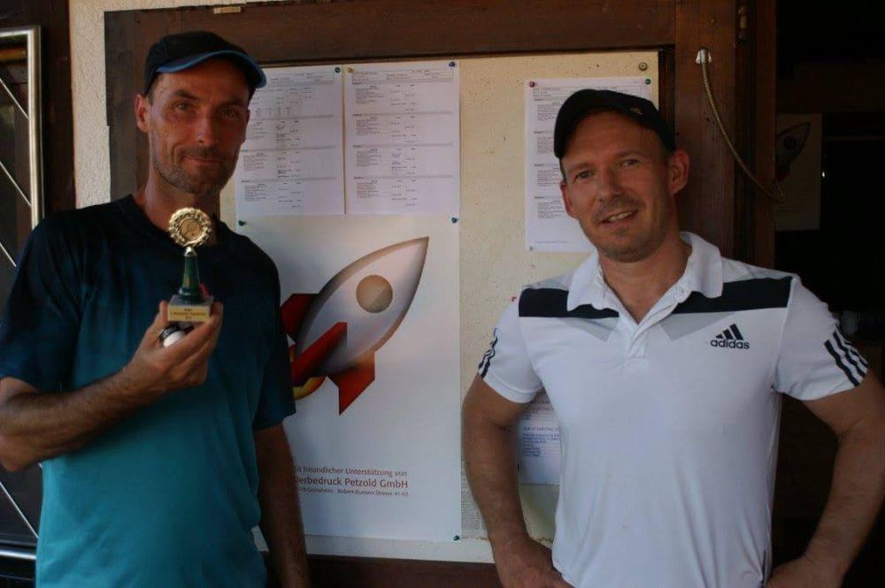 Herren Gruppe 7 - Sieger Andreas Kollmann und Zweitplatzierter Rocky Selle