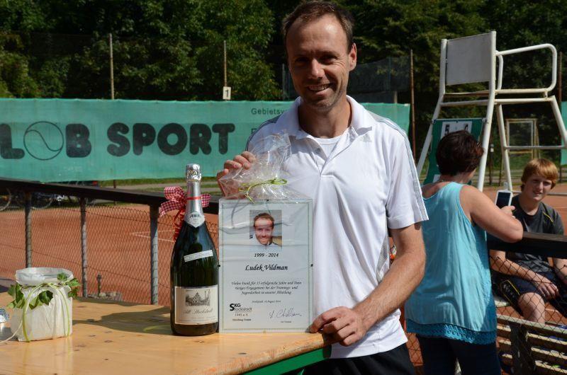 40-Jahr-Jubiläums-Feier SKG Stockstadt Tennis - Abschied von Trainer Ludek Vildmann