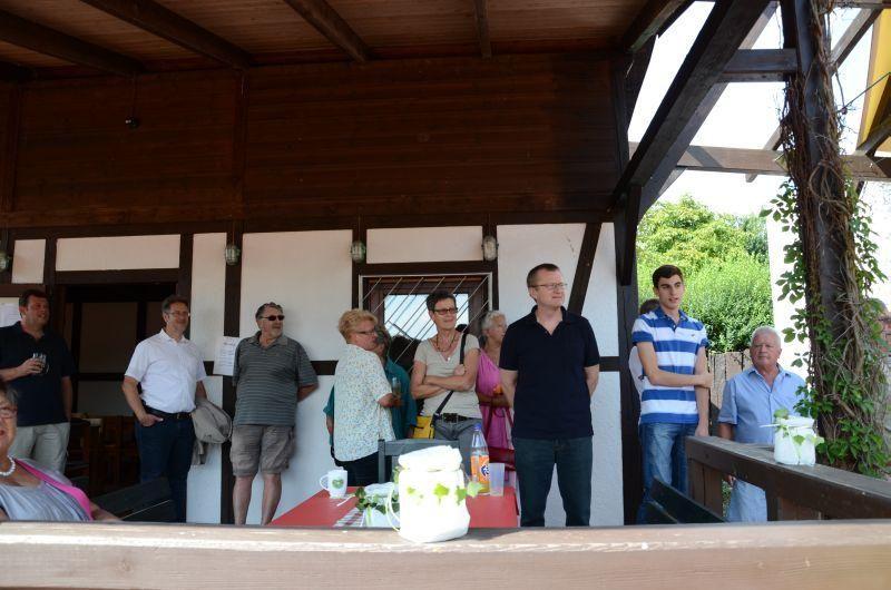 40-Jahr-Jubiläums-Feier SKG Stockstadt Tennis - die Zuschauer