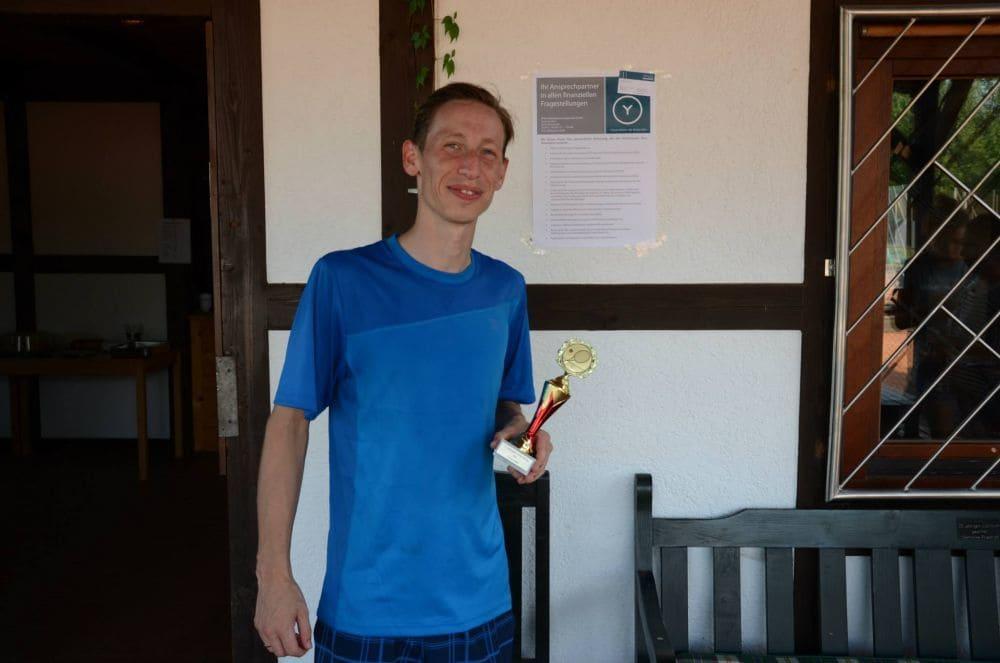 Sieger Herren Gruppe 8 - Patrick Wokan