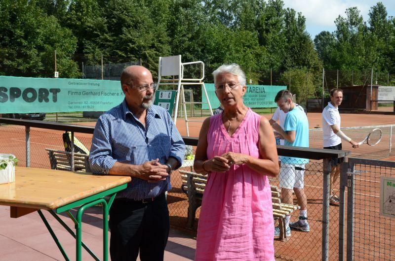 40-Jahr-Jubiläums-Feier SKG Stockstadt Tennis - Ludwig Christlabuer und Ursula Kraft
