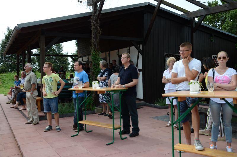 40-Jahr-Jubiläums-Feier SKG Stockstadt Tennis - Zuschauer beim Showmatch