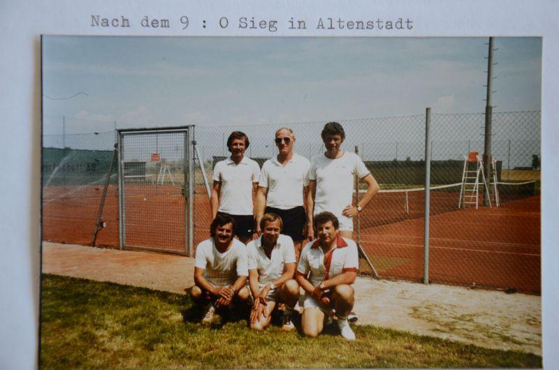 Jahr 1982: Jungsenioren - Wolfgang Bergen, Ernst Heil, Rainer Treustedt, Heinz Sobotta, Georg Dillmann, Heinz Hambach