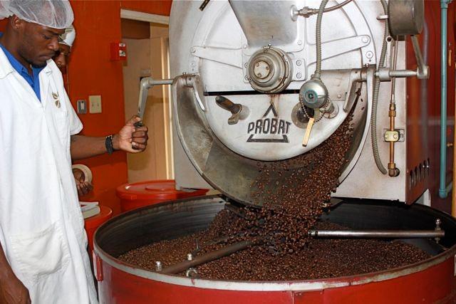 ziemlich dunkle Röstungen für Inselkaffee sind hier üblich