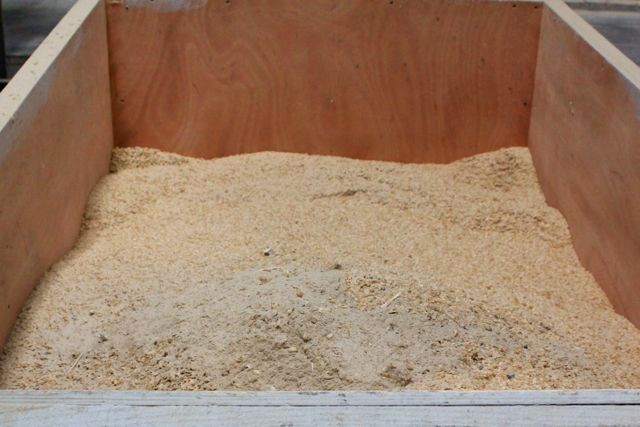 Asche des verwendeten Brennmaterials zum Trocknen....