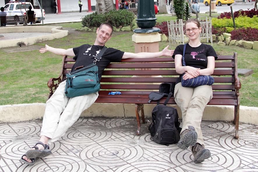 Pingo und Kira im Park in Loja