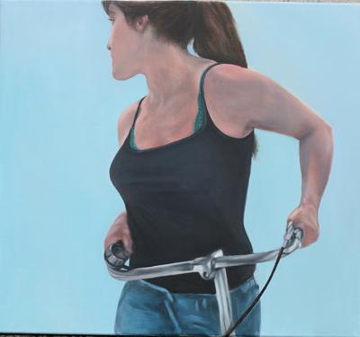 """""""Der Ausflug"""" 2012, Öl auf Leinwand, 90x100"""