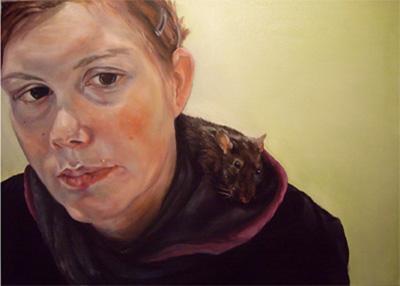 """""""Sabrina und Sahara"""" 2011, Öl auf Leinwand, 62x88"""