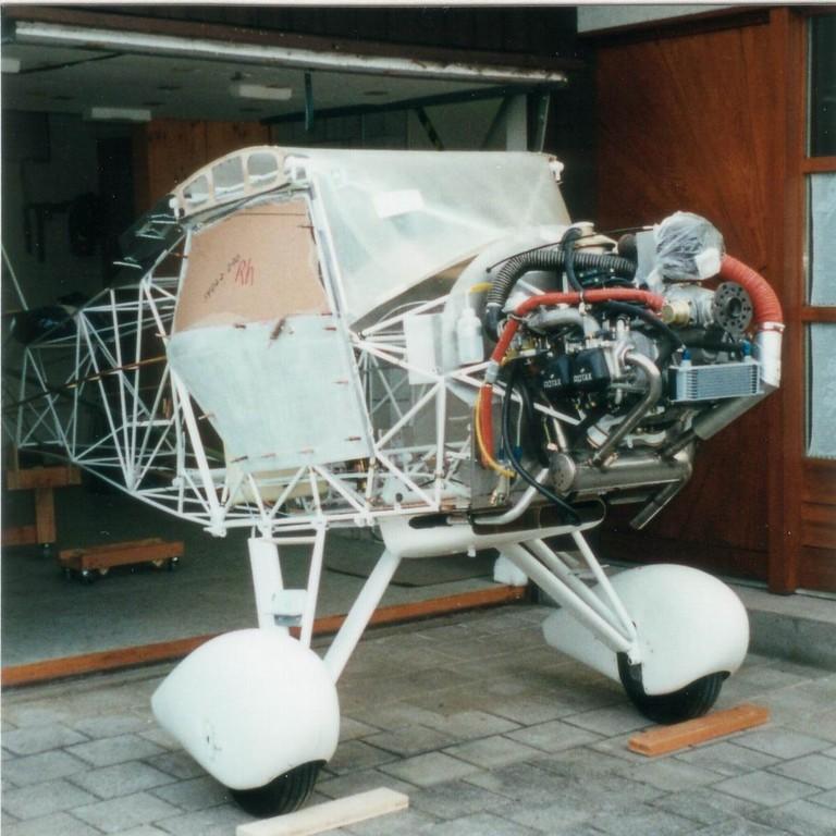 Rotax 912 UL fertig eingebaut
