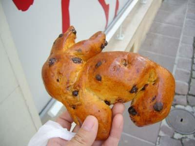 多分チョコチップのブリオッシュ ウサギですよ。一応ね… 私が作ったんじゃないですよ〜!