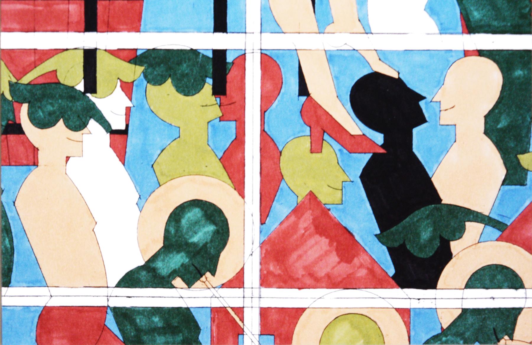 Etude pour les vitraux, 1999 - Foto Hadler/Stuhr