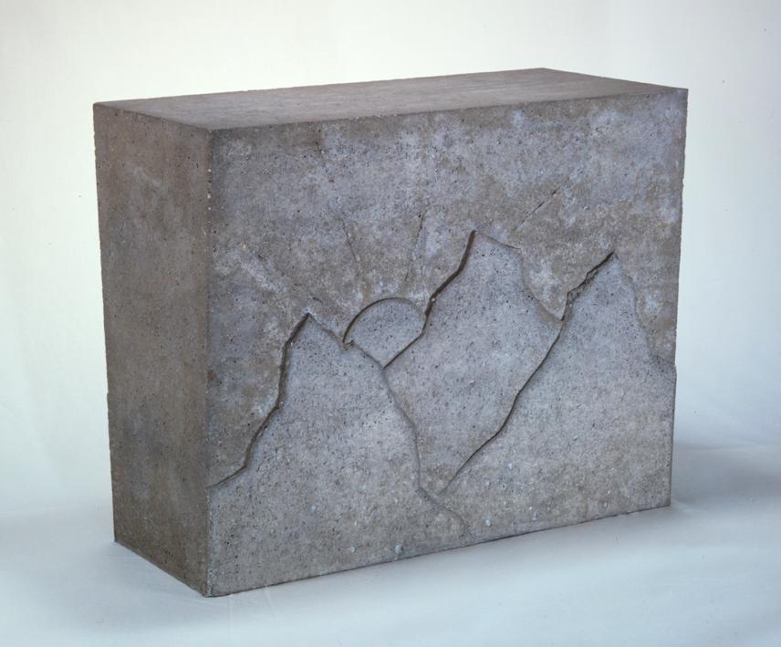 """Paysage"" 1976, beton 51 x 63 x 29 cm - Photo Hadler/Stuhr"