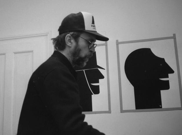Dans son atelier 1988 - Photo © Elisabeth Ettl