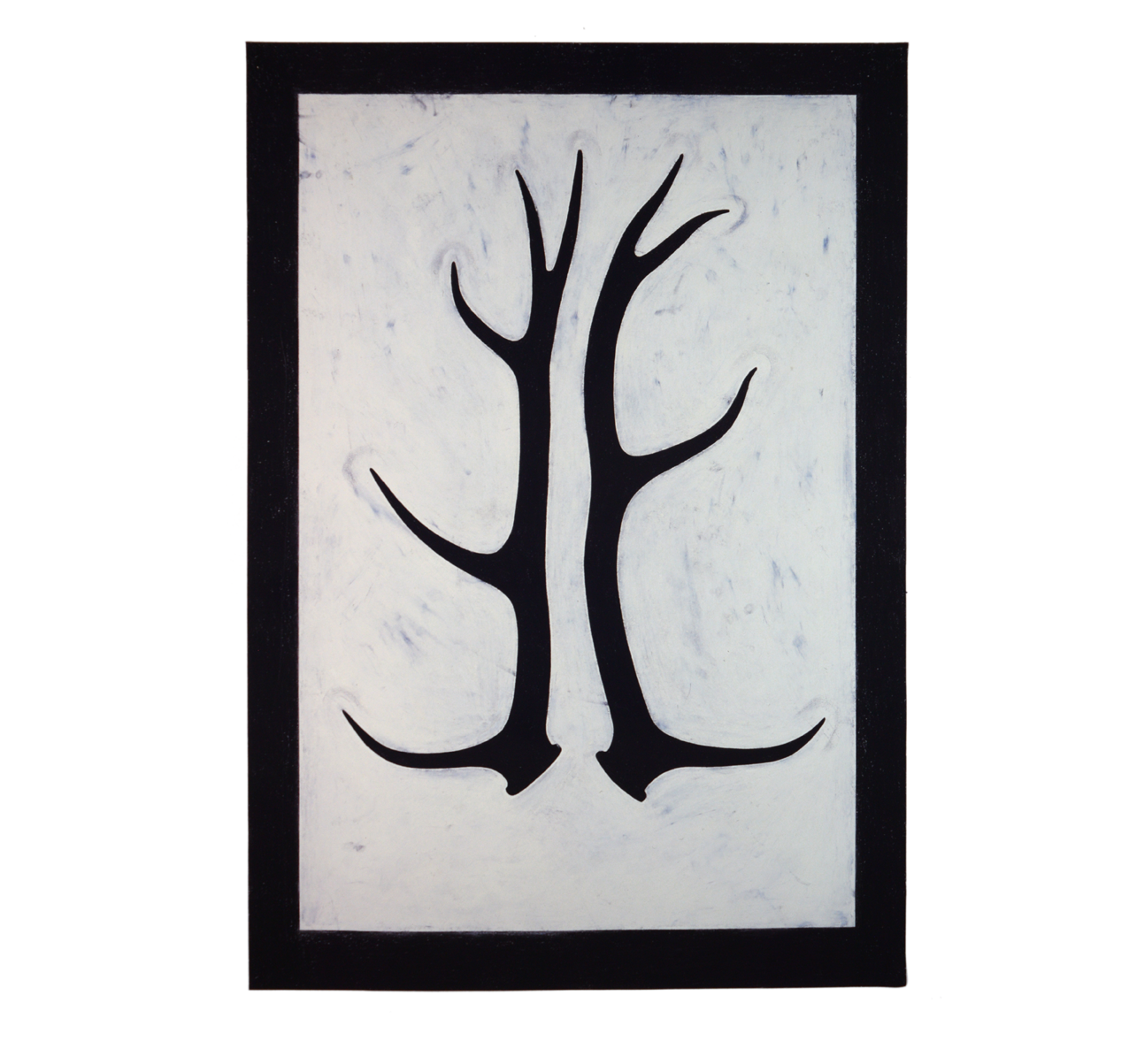 """Ramure"" 1981, fusain, craie grasse sur papier, 157 x 115 cm - Photo Hadler/Stuhr"