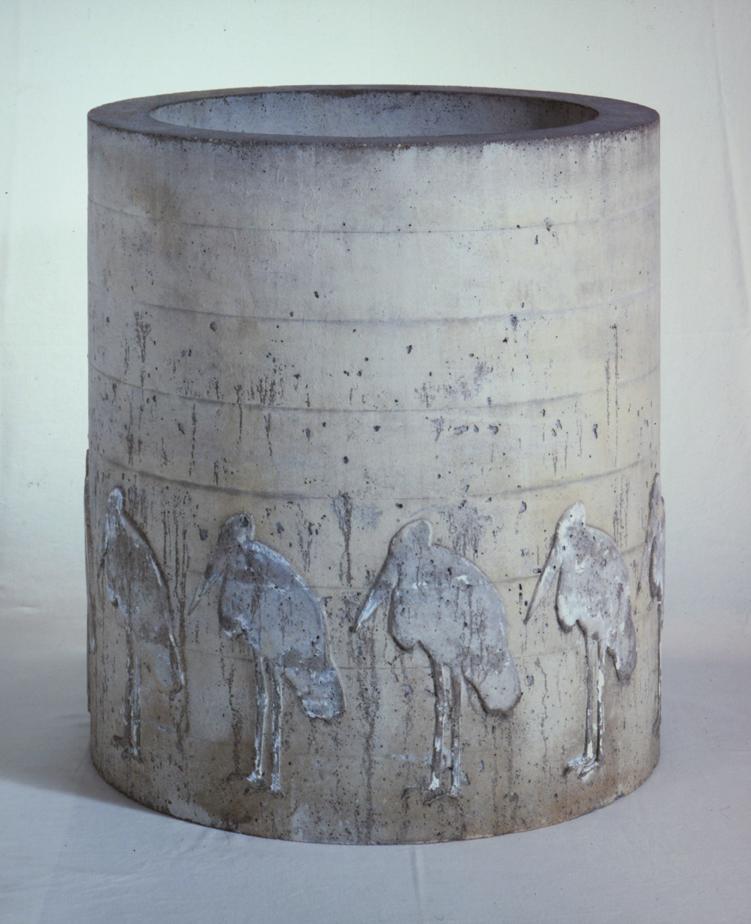 """""""Marabout"""" 1975, beton 52,5 x 48Ø cm - Collection de Peintures de l'Etat de Bavière - Achat 2019 - Photo Hadler/Stuhr"""