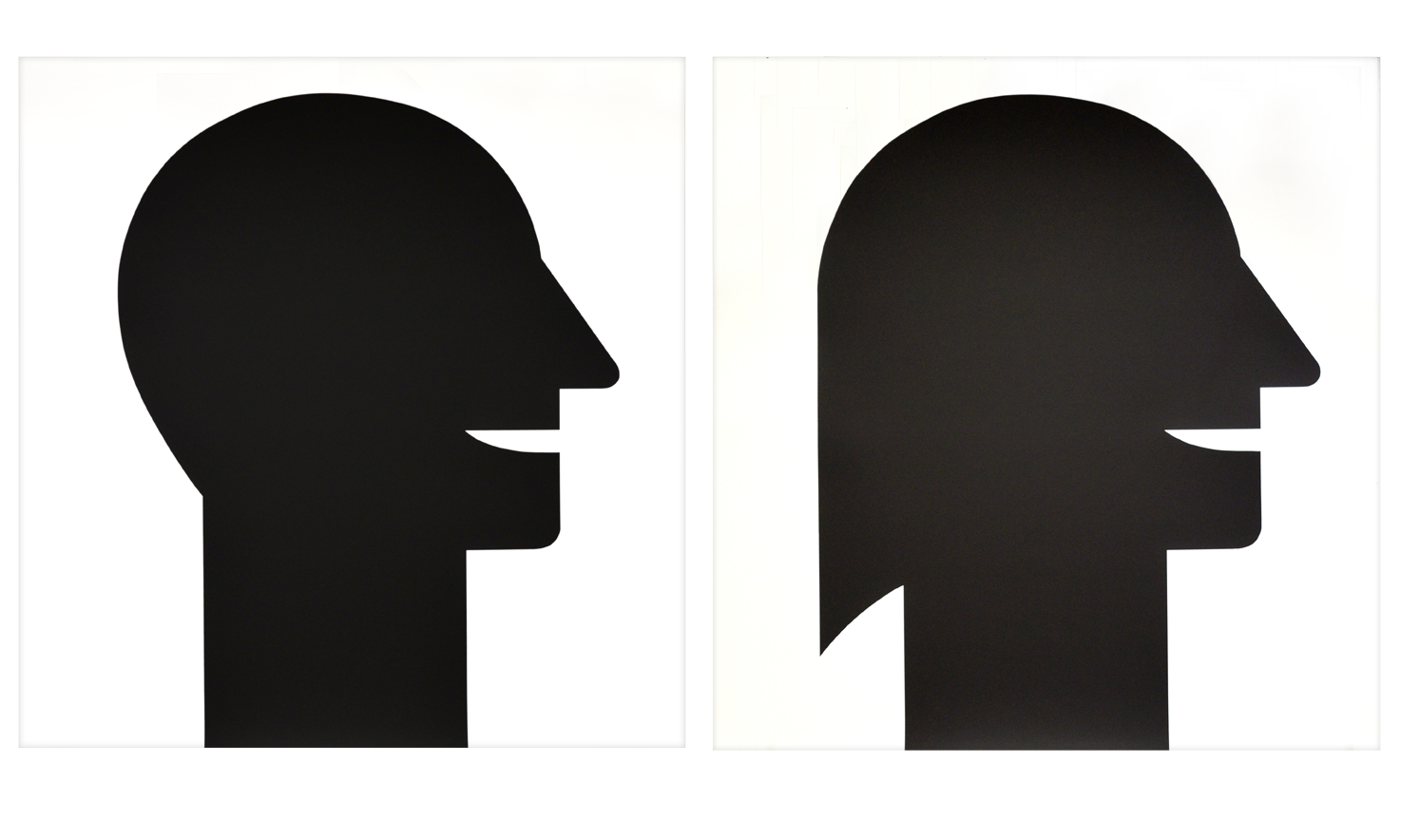 """Dyptique """"Homme et femme"""" 1989, sérigraphie sur papier du rouleau, 88,1 x 91 cm chaque - édition 30"""