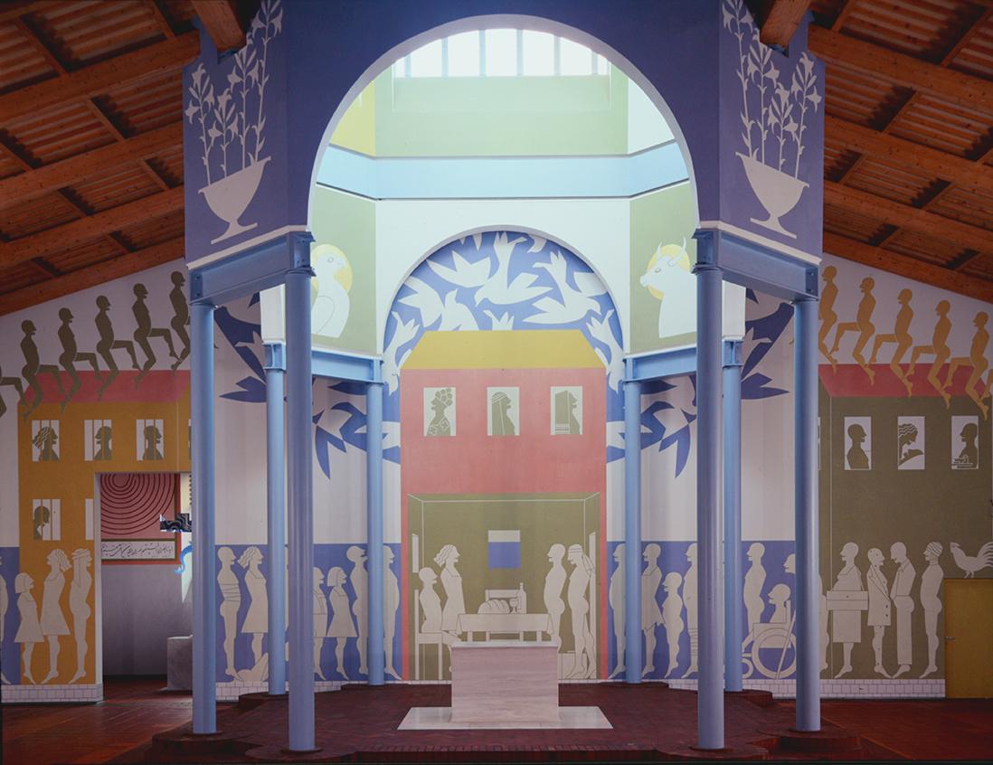Mur d'autel et choeur avec envoi du Saint Esprit - Foto Hadler