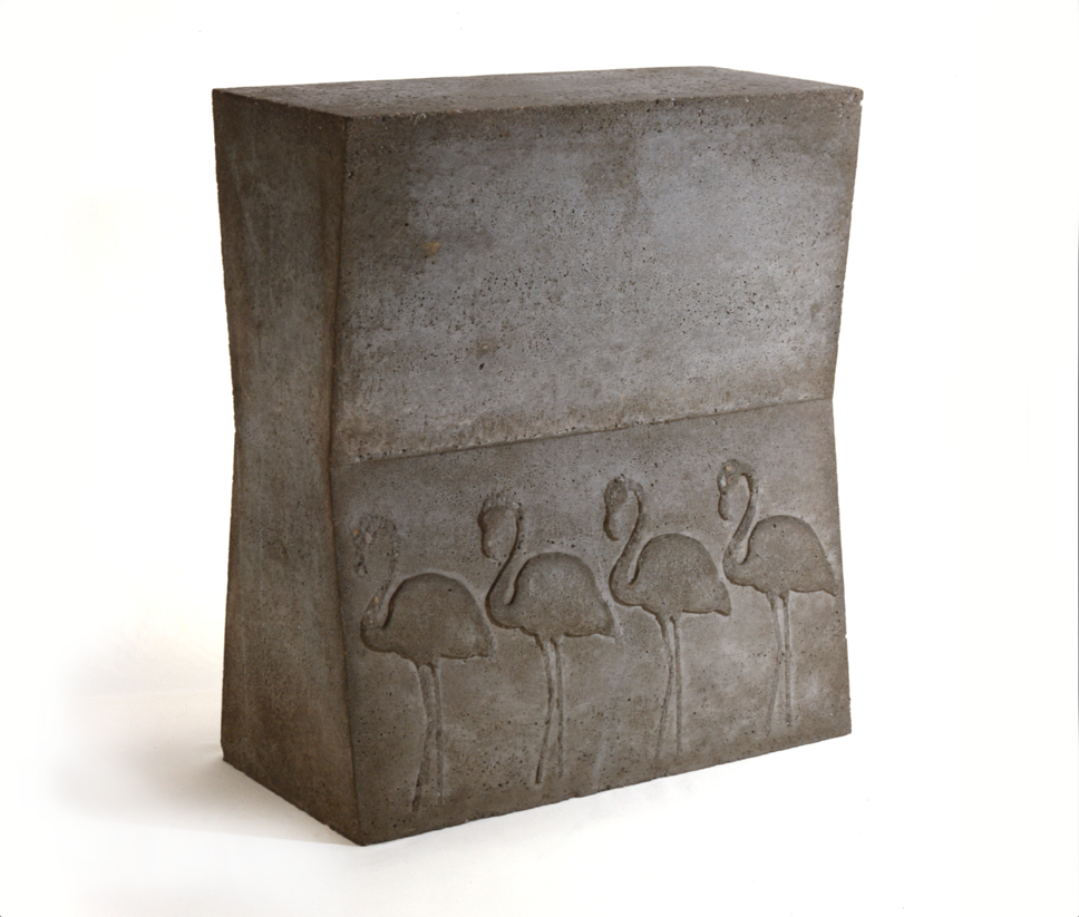 """Flamingos"" 1975, concrete 60 x 51,5 x 24 cm - Photo Hadler/Stuhr"