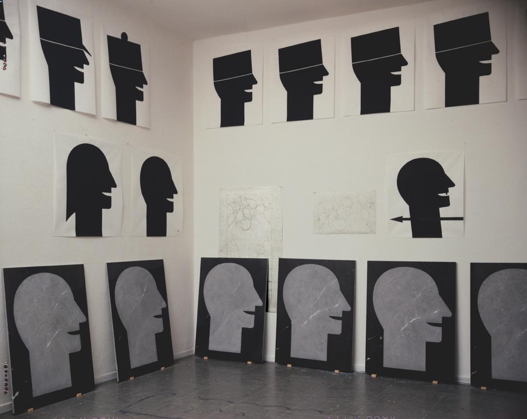 Atelieraufnahme 1989 - Foto Hadler/Stuhr