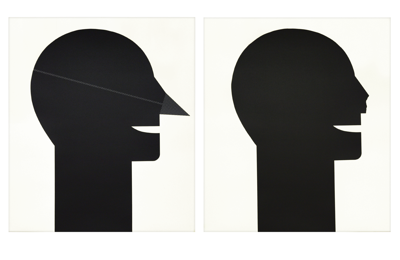 "Diptych ""With and Without Nose"" 1989, silkscreen on deckle edge paper, each 74,3 x 84,2 cm - Edition:"