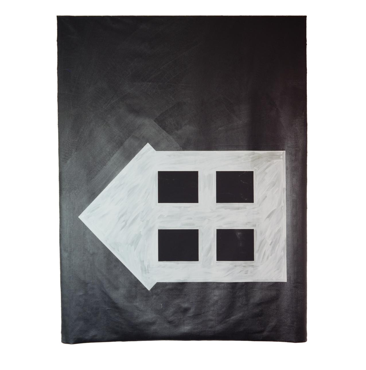 """""""Hausbild"""" 1981, Bitumen, Teer, Silberbronze auf Leinwand, 275 x 210 cm - Sammlung Madison Art Center/Madison, Wisconsin - Foto Stephan Hadler"""