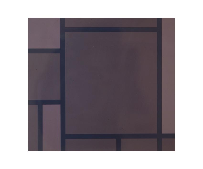 """Mondrian Grau"", 1991, Autolack auf Stahlblech, 82,2 x 90,2 x 2,5 cm - Foto Nic Tenwiggenhorn"