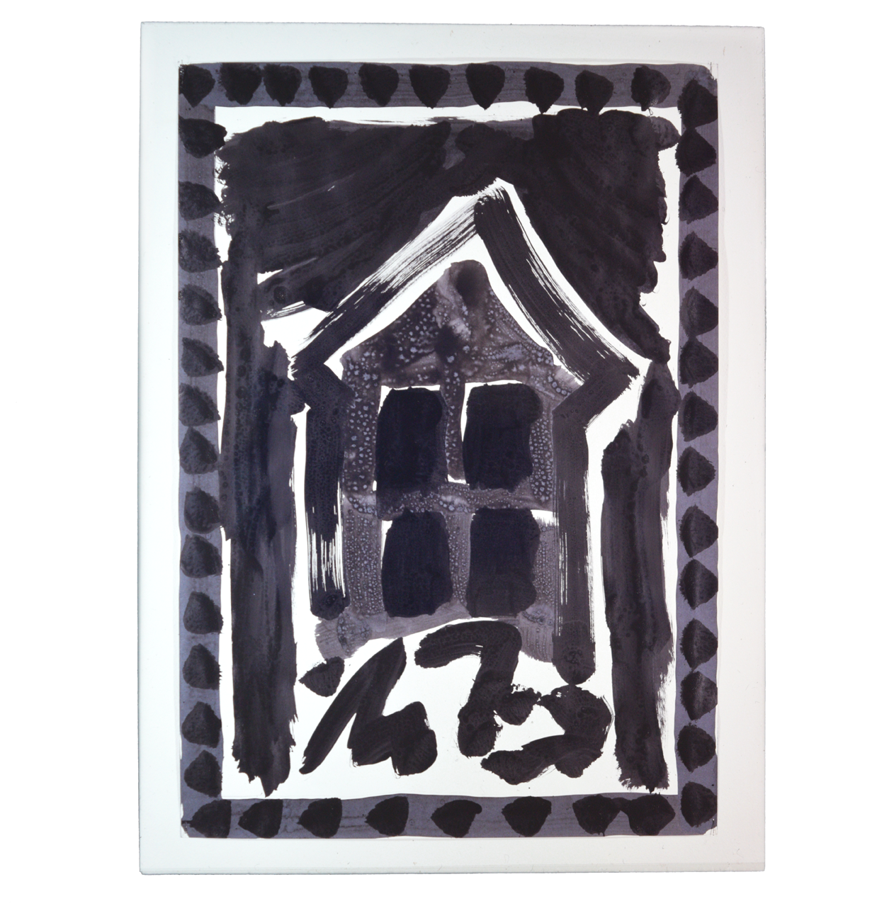 """House on Rocks"" 1980, ink on paper, 90 x 63 cm - Photo Hadler/Stuhr"