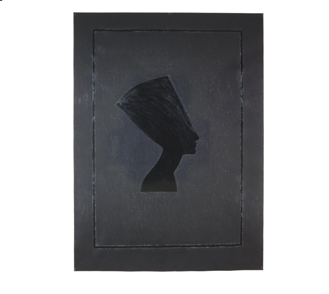 """Nofretete"" 1981, Kohle, Teer auf Papier, 157 x 115 cm - Foto Hadler/Stuhr"