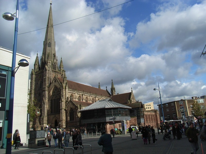 St Martin's-in-the-Bull Ring, south elevation