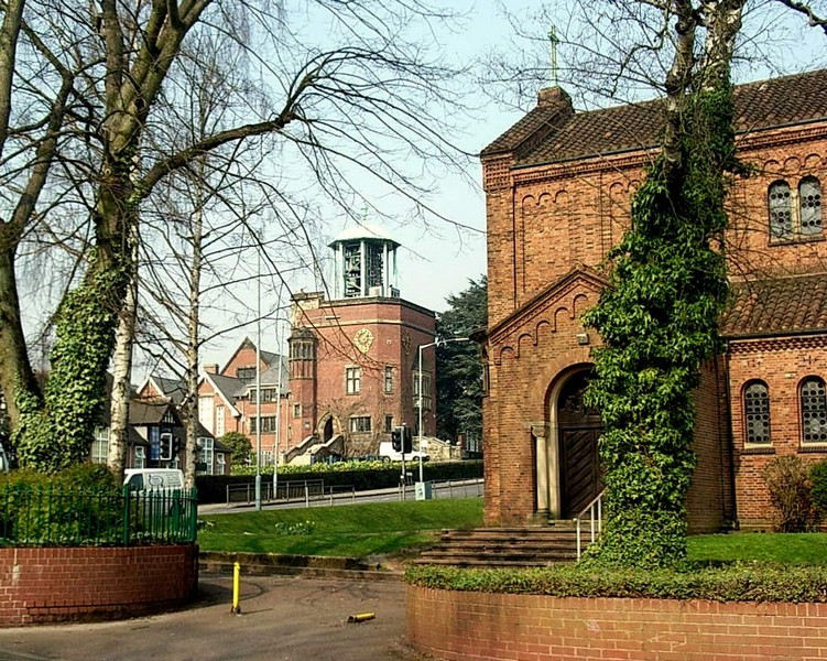 Bournville Carillon, St Francis Church in view to the left