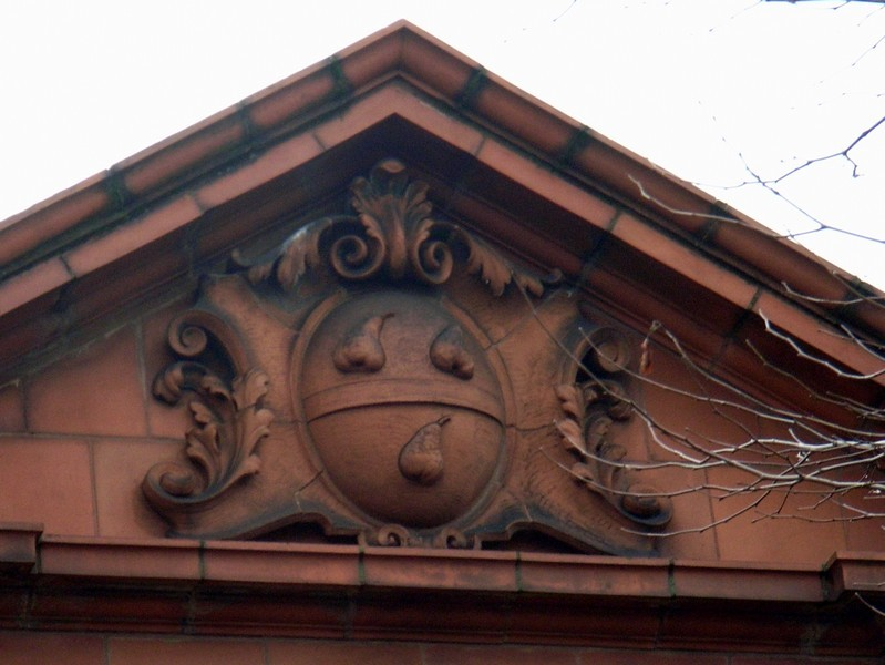 Acocks Green police station - detail - coat-of-arms of Wocestershire