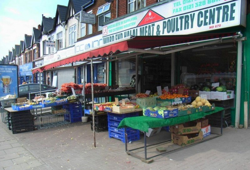 A shop on Washwood Heath Road. Many businesses here are Asian-owned.