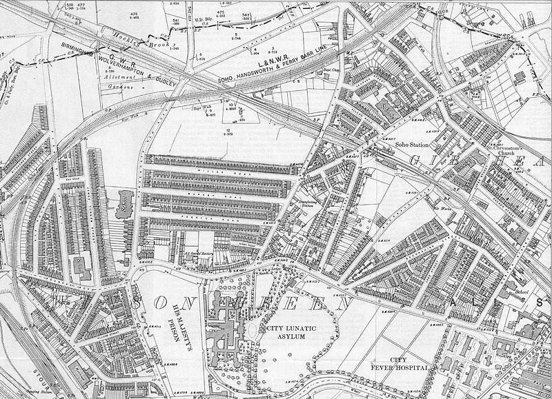 Ordnance Survey map of Winson Green 1903. The original map is in the public domain being over 50 years old.