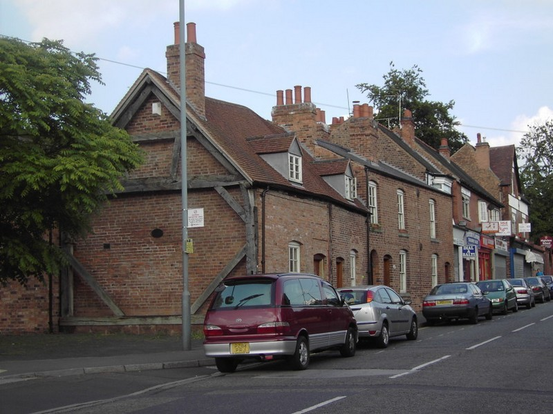 Timber-framed houses on Station Road