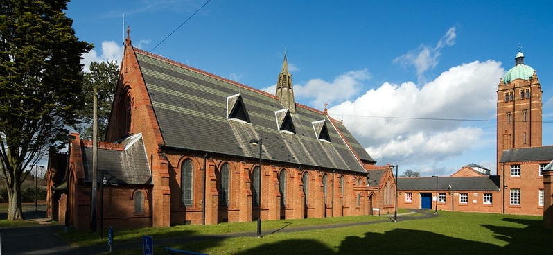 Hollymoor Hospital chapel is once again in use as a Christian church. Image by Kate & Drew on Flickr.