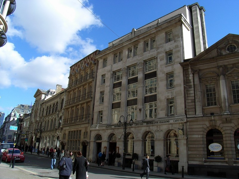 Colmore Row, west end