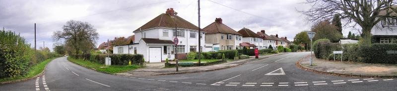 Lindridge Road. Image used with permission from the late Keith Berry