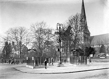 All Saints' Church 1932. Thanks to Shutterspy of Birmingham Daily Photo for this photograph. Image 'All Rights Reserved'. See Acknowledgements.