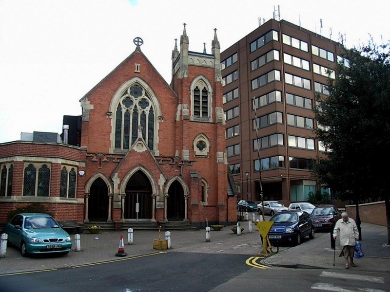 United Reform Church north of the Gracechurch shopping centre
