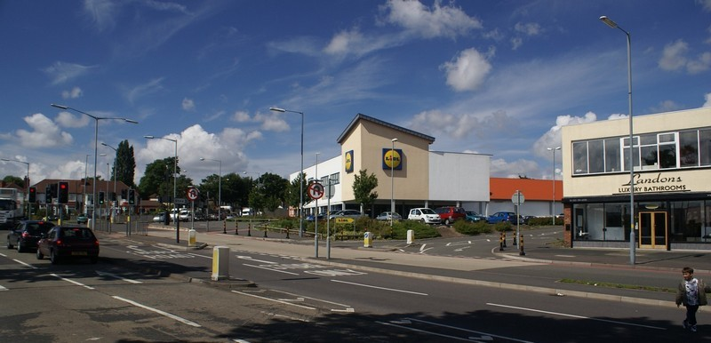 The Lidl supermarket was built on the site of the Norton pub. Photograph courtesy of Jo Gregory, Gunter School.