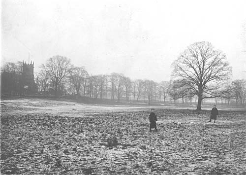St Mary's glebe early 1890s, showing the grazing around the church before Handsworth Park Pond was excavated. Image in the public domain uploaded to Wikipedia by sibadd. See Acknowledgements.