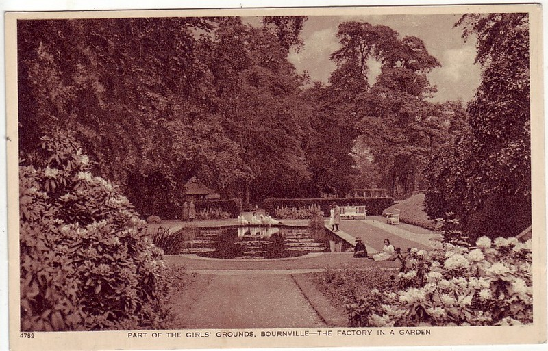 The Girls' Grounds on the site of Bournbrook Hall  - date unknown. Image reproduced from Our Past History. See Acknowledgements for a direct link to that website.