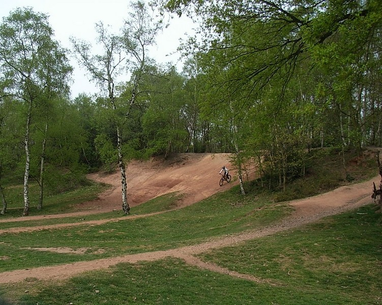 A former sand pit east of Keeper's Pool is popular with young mountain bikers.