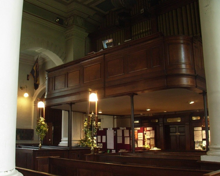 In 1815 the organ and choir loft were added at the rear of the church with access gained to the balcony from the tower staircase.