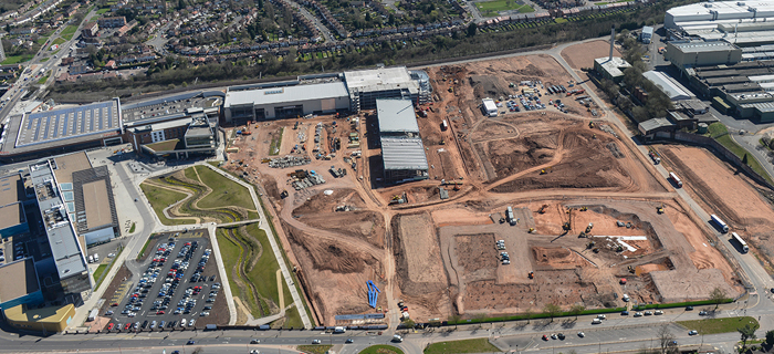 Longbridge town centre development 2015 - image from O'Brien Contractors website