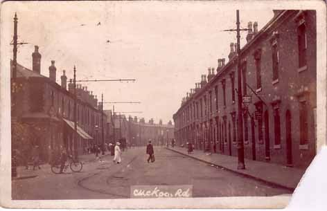 Cuckoo Road. Postcard courtesy of JKC, Birmingham History Webring Forum. All Rights Reserved.
